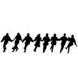 balkan dancers silhouettes vector image