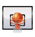 basketball ring isolated vector image vector image