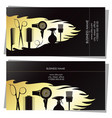 beauty salon golden business card concept