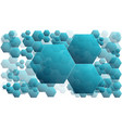 blue hexagonal background with copy space modern vector image