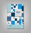 Brochures book or flyer with blue abstract squares vector image vector image