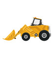 bulldozer quarry machine stone wheel yellow vector image