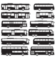 bus and coach silhouettes vector image vector image