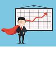businessman and presentation board vector image