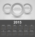 Calendar 2015 year template with business abstract vector image vector image