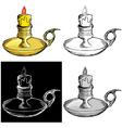 Candlestick mantel vector image vector image