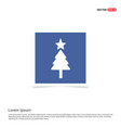 christmas tree icon - blue photo frame vector image vector image