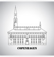 city hall square in copenhagen denmark vector image vector image