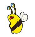 Comic cartoon funny bee