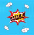 comic speech bubble bam vector image vector image