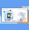 creative business teamwork finance application vector image