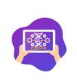 crispr genome editing icon with a tablet vector image vector image