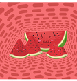 Cute Watermelon Fruit Slice Mascot Pink Disco vector image vector image