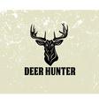 deer head on grunge background vector image