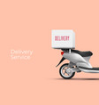 delivery service poster banner design concept vector image
