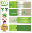 Eco signs labels and emblems vector image vector image