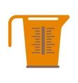 Empty measuring cup glass cooking liquid utensil vector image