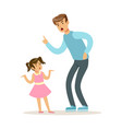 father character scolding his daughter vector image vector image