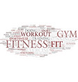 fitness word cloud concept vector image vector image