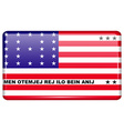 Flags Bikini Atoll in the form of a magnet on vector image vector image