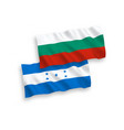 flags honduras and bulgaria on a white vector image