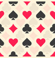 flat colorful playing card suits pattern vector image