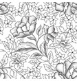 floral seamless pattern garden flower bouquet vector image vector image