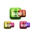 glass sale icons vector image vector image