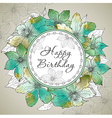 Happy Birthday greeting card with beautiful vector image