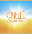 hello summer beach and the vector image