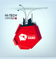 hi-tech abstract template vector image vector image