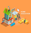 home education isometric concept vector image vector image