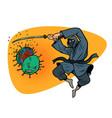 japan victory in epidemic coronavirus vector image