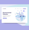 landing page template of environmental pollution vector image vector image
