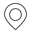 location pointer line icon minimal pictogram vector image