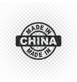 made in china stamp on isolated background vector image vector image