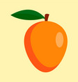 mango icon flat style vector image vector image