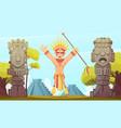 maya cartoon vector image vector image
