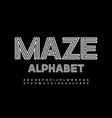 maze alphabet white creative font vector image