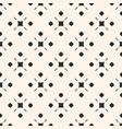 monochrome ornamental seamless simple pattern vector image vector image