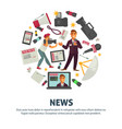 news people working in mass media field vector image