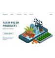 online farm products web page template vector image vector image