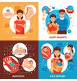 Parents Concept Icons Set vector image vector image
