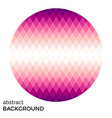 pink circle of rhombuses isolated vector image vector image