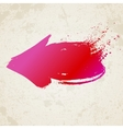 red grunge arrow vector image vector image