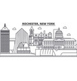 rochester new york architecture line skyline vector image vector image