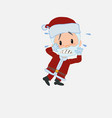 santa claus very alarmed takes the hands to the vector image vector image