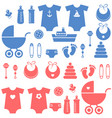 set baboy and girl elements icons vector image vector image