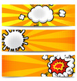 set banner templates in comic style for poster vector image