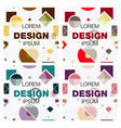 set of abstract background texture design bright vector image vector image